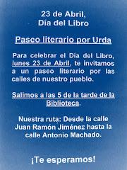 DÍA DEL LIBRO, 23 DE ABRIL 2012:  PASEO LITERARIO POR URDA
