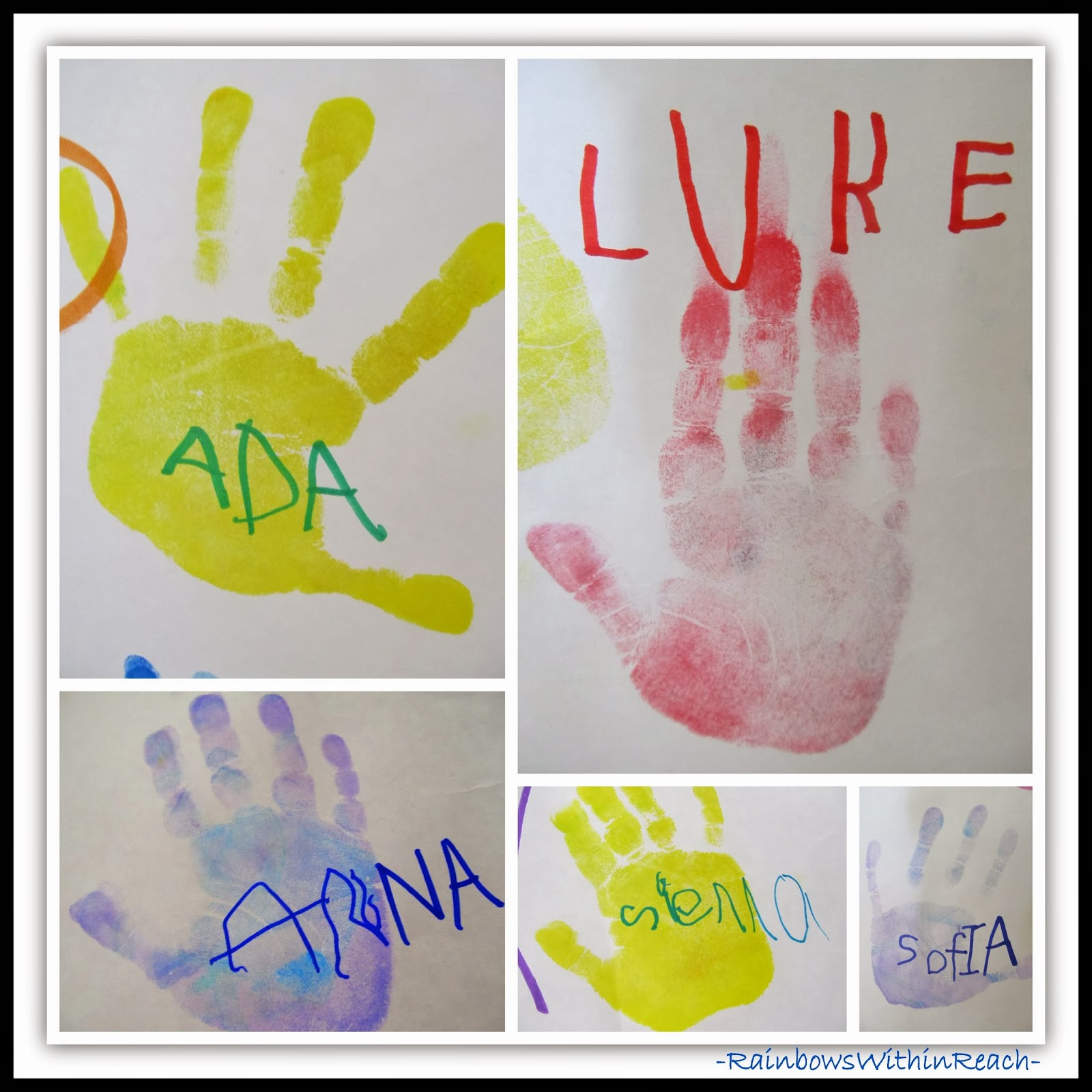 Signatures as Part of Children's Art Response
