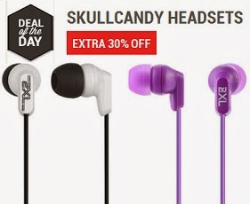Skullcandy Earphone worth Rs.1099 starts from Rs.454 Only (Flat 30% Extra Off) at Flipkart