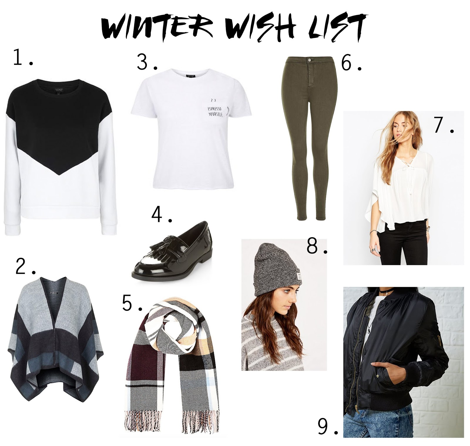 Winter clothing wish list 2015