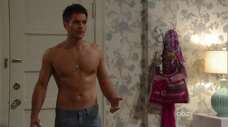 Erik Valdez Shirtless in General Hospital 20120713