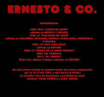 Hoja del libreto del nuevo CD.