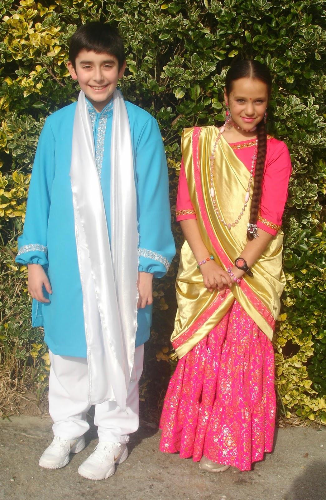 O obradoiro de Klor: Disfraz de hindú
