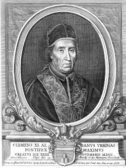 Papa Clemente XI - 243º papa della Chiesa cattolica con discendenza albanese