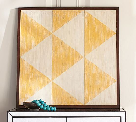 Pottery Barn's Yellow Diamond Panel
