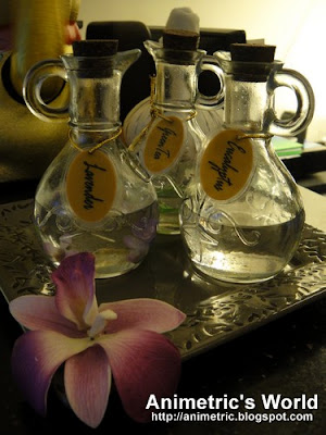 Scented massage oils at Nuat Thai Libis