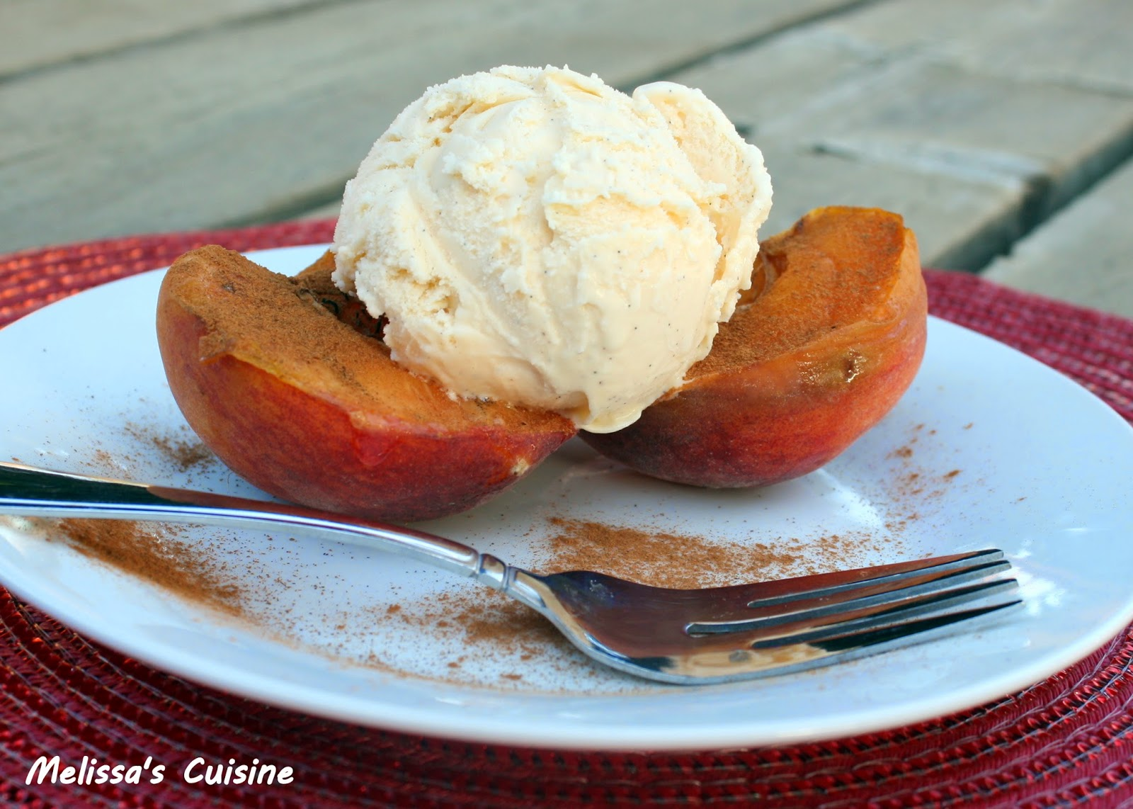 Melissa's Cuisine: Grilled Peaches