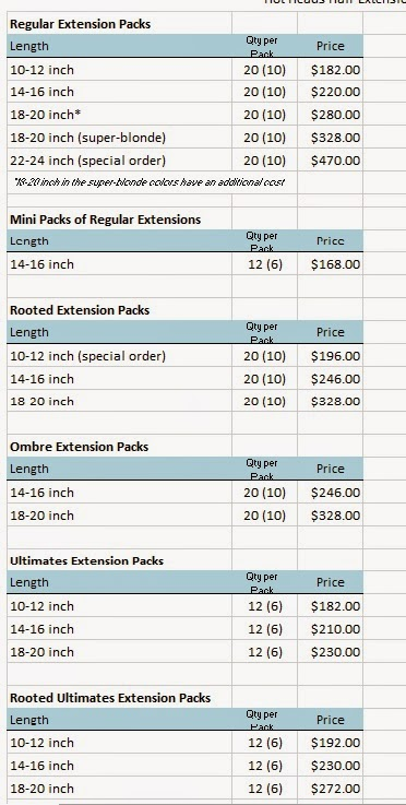 Hair seattle hot heads extensions price list per pack to read more about lynn and hair extensions use the links on this page under extensions and it will bring up everything ive written about them to date pmusecretfo Image collections