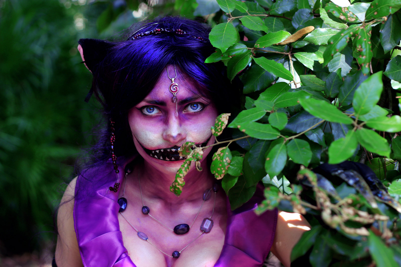 cheshire female cat disney alice in wonderland makeup cosplay