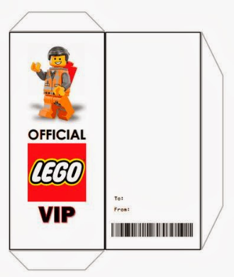 template LEGO movie party envelope emmet