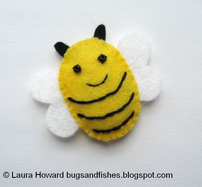 Bugs And Fishes By Lupin How To Make A Mini Felt Bumblebee