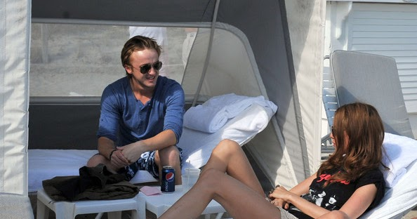 tom felton with his girlfriend jade olivia 2012 harry