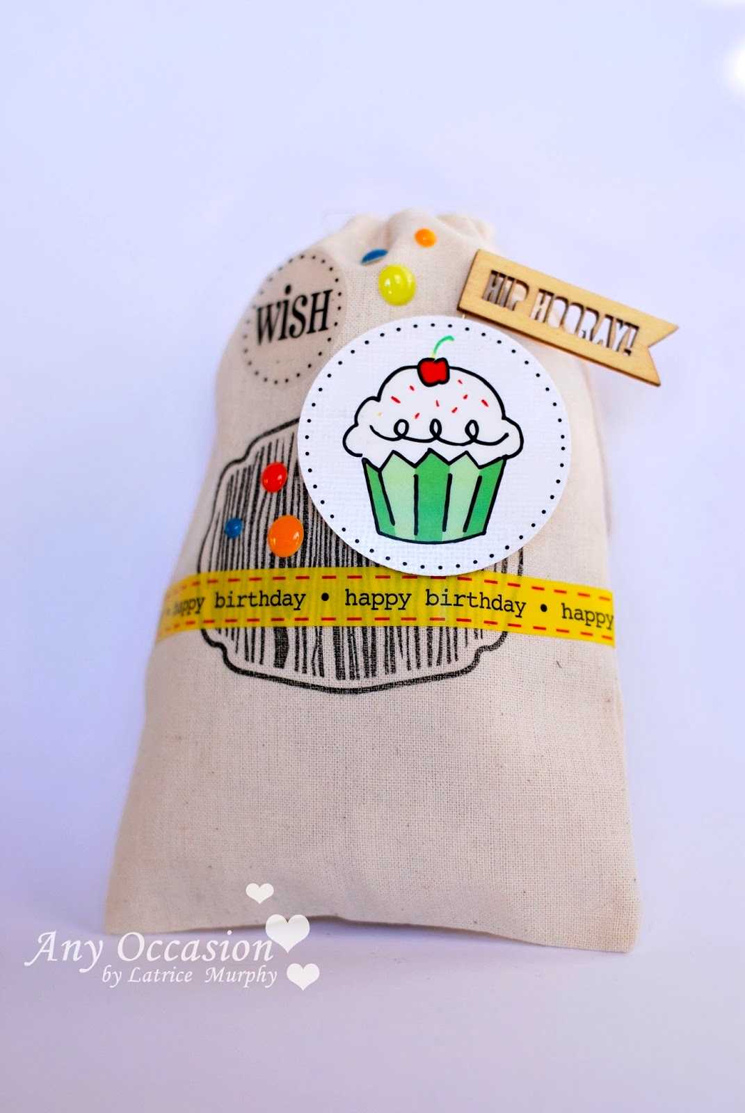 SRM Stickers Blog - Party Treats by Latrice - #muslin #bags #stickers #borders #pillow box