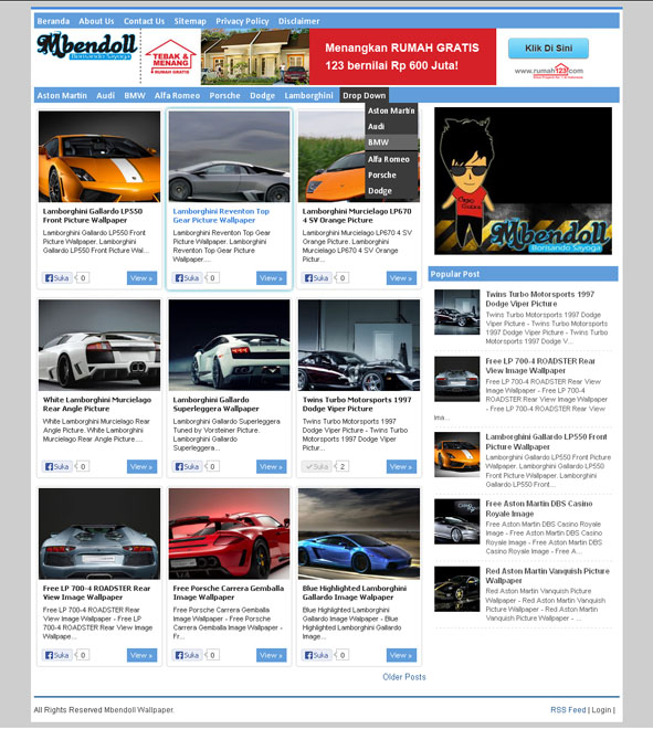 Blogger Template Wallpaper SEO Friendly, Fast Load, Responsive ...