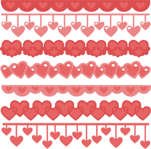 Heart Borders SVG -- Free File of the Day from Miss Kate Cuttables