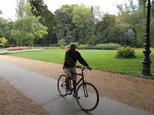 Cycling on Margaret Island in Budapest.