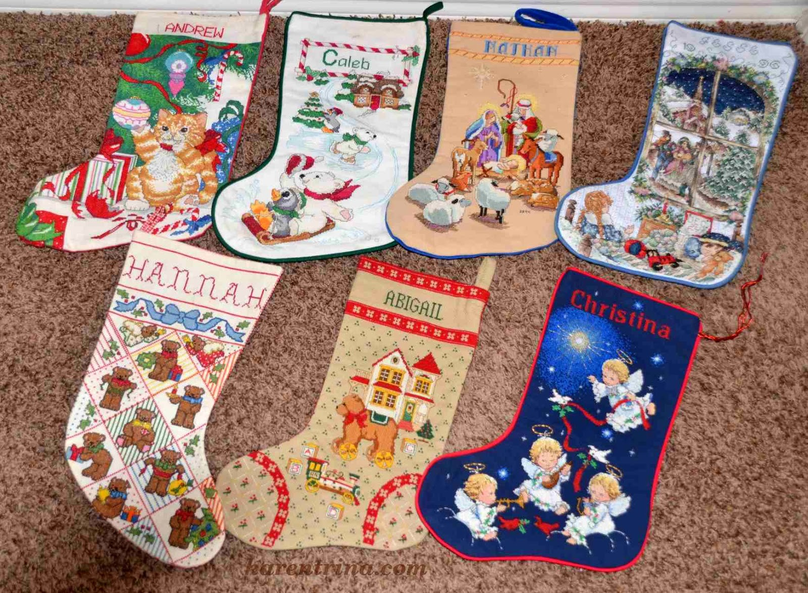 cross stitch stockings