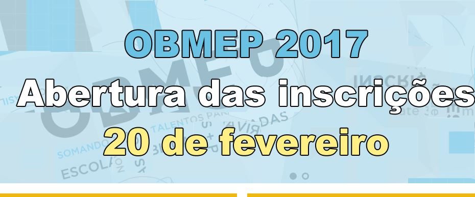 Notícias sobre a OBMEP
