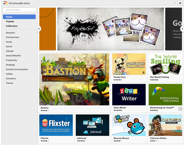 ChromeWebStore Metro UI design