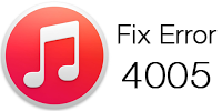 Fix iTunes Error 4005