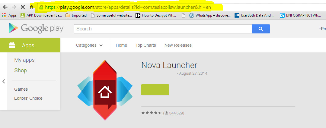 Download Android Apps directly without Google Play from PC