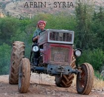 Afrin: Farmer drives own traktor