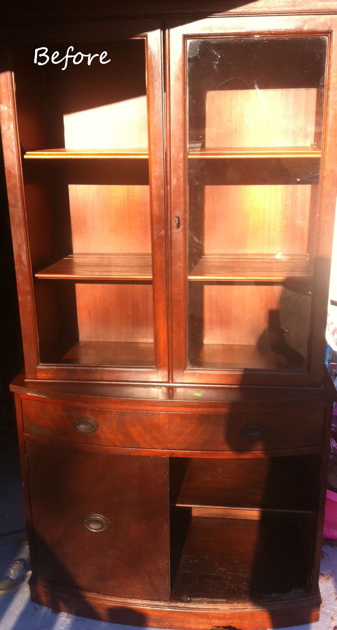 Refound Vintage China Cabinet Turned Hutch