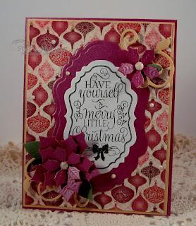 ODBD Christmas Tunes, ODBD Custom Peaceful Poinsettia Dies, ODBD Custom Vintage Labels Dies, ODBD Custom Fancy Foliage Dies, ODBD Christmas Paper Collection 2015, ODBD Customer Card of the Day by Stacy Morgan