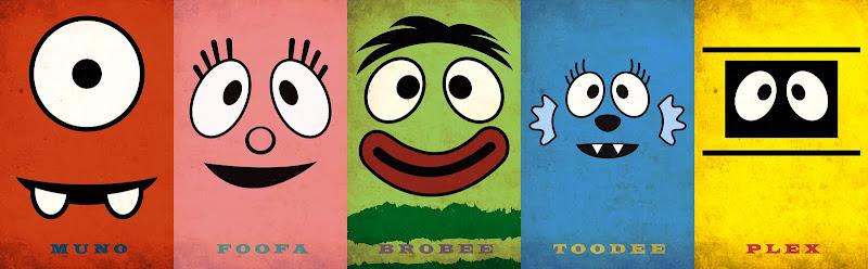 Yo Gabba Gabba print designs title=