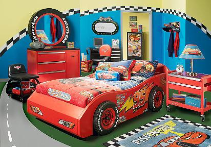 Cars dormitorio tematico de rayo mcqueen dormitorios for Boys car bedroom ideas