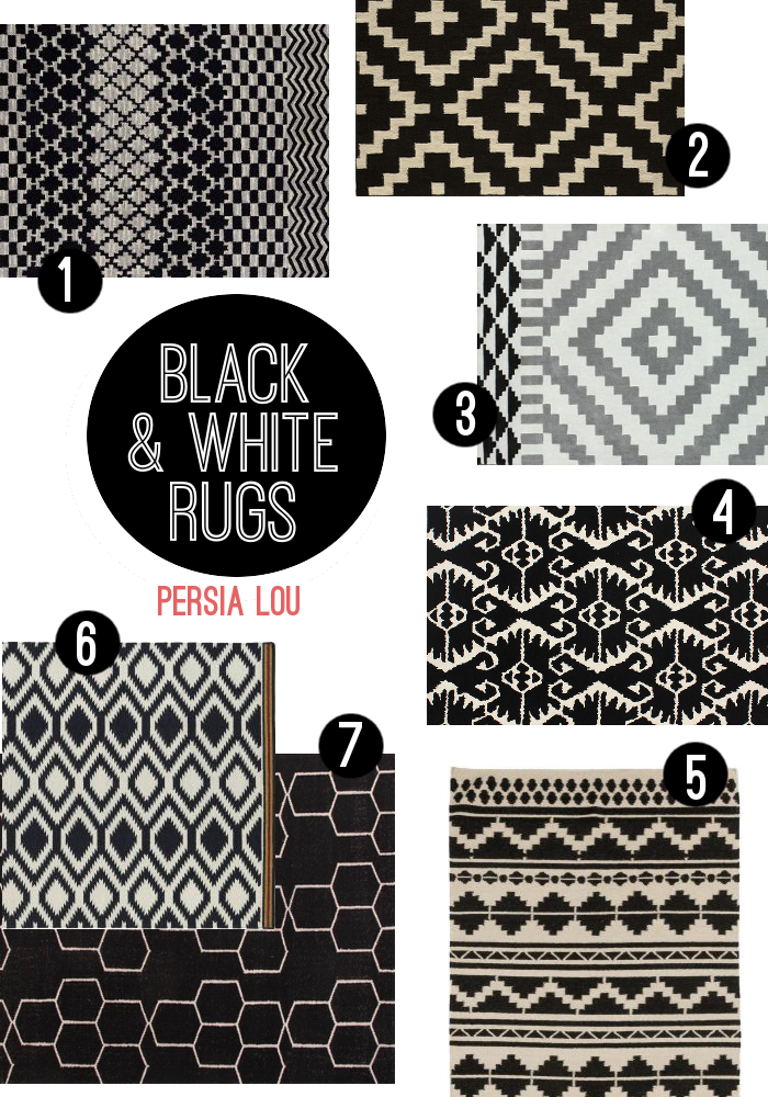 Favorite rugs for Black and white wall to wall carpet