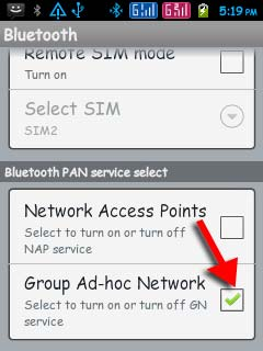 bluetooth Group ad hoc