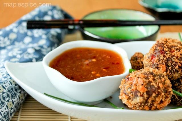 Apricot-Ginger Dipping Sauce for Vietnamese Mushroom Balls