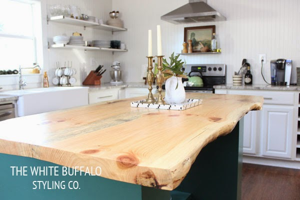 DIY Kitchen Island by The White Buffalo
