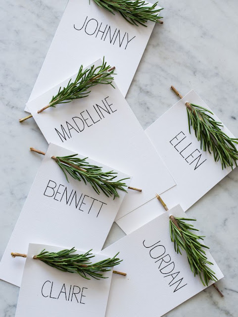 DIY rustic escort cards