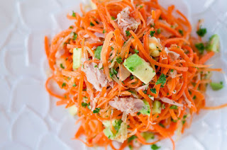 Carrots Salad with Tuna and Avocado Recipe (Gỏi Cà Rốt)