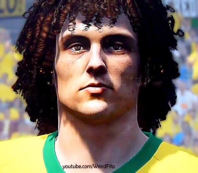 Faces jogadores brasileiros: Face David Luis PES 2015