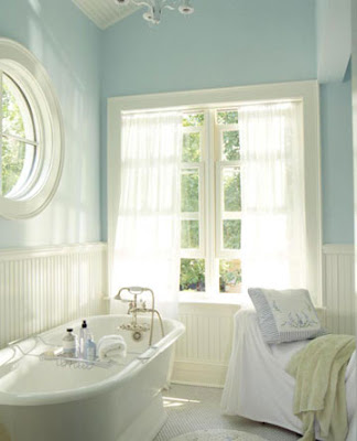 aqua white bathroom