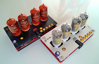 Nixie tube clocks, back