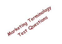 image of marketing terminology test questions