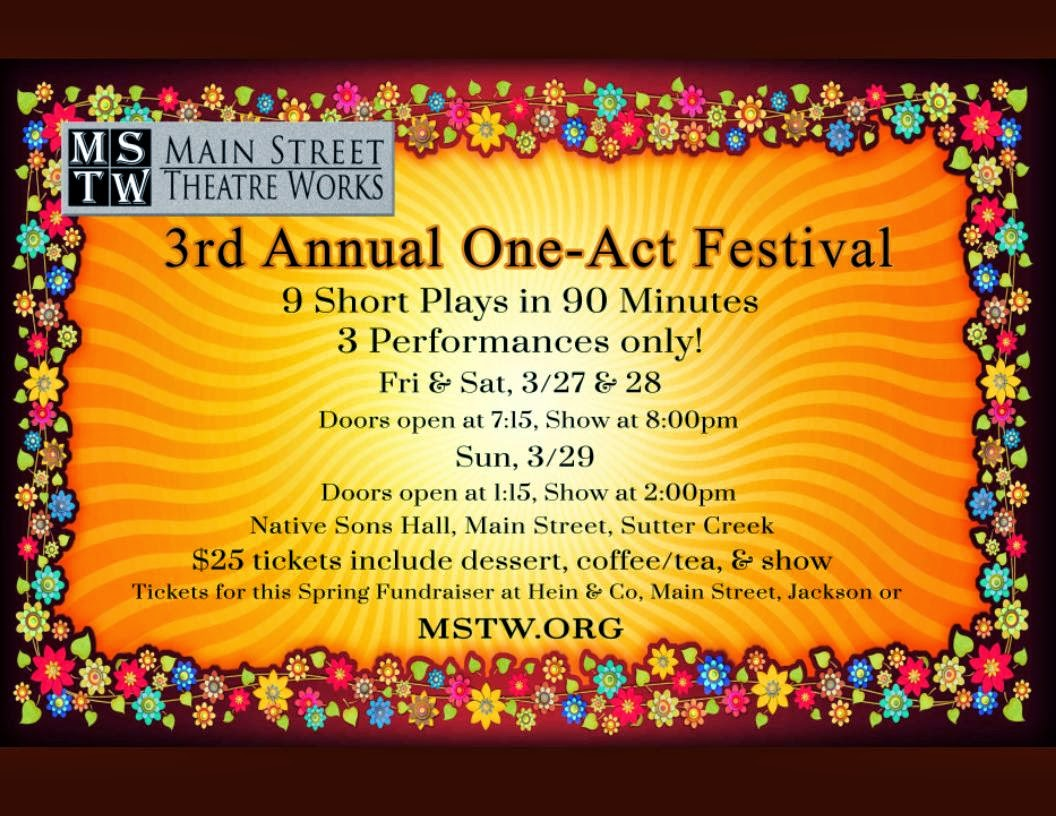 3rd Annual One-Act Festival - Mar 27-29