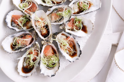 Oysters with pickled ginger dressing Recipe