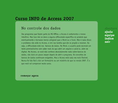 CURSO INFO DE ACCESS 2007