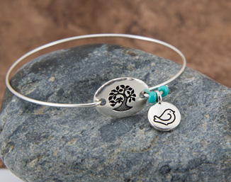 Bird in a Tree Bangle