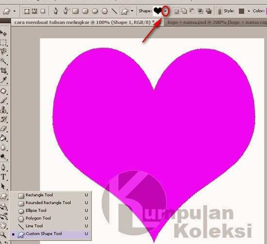 Cara Membuat Tulisan Berbentuk LOVE dengan photoshop