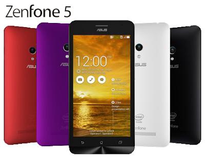 Spesifikasi Dan Harga  Asus Zenfone 5,  Android Degan Prosesor  2 GHz