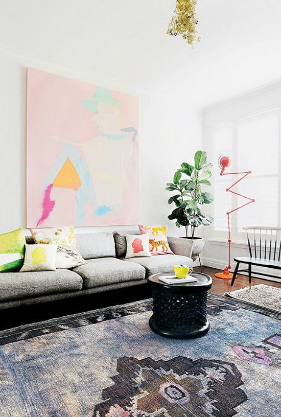 colorful apartment tour