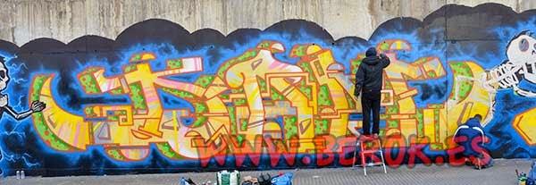 Graffiti Dam Trs en Terrassa
