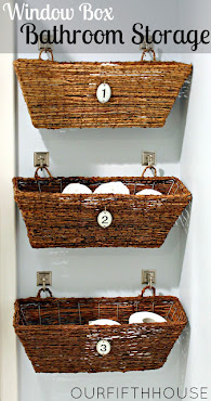3. Window Box Bathroom Storage