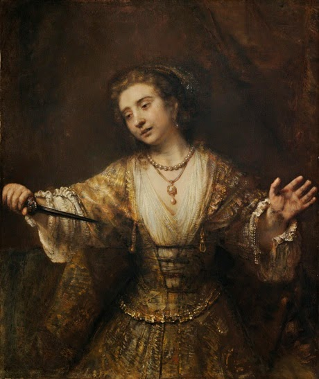 Rembrandt - Lucrece ( 1664 )